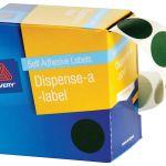Avery Label Dispenser Dmc24g Green Round 24mm 500 Pack | 61-238267