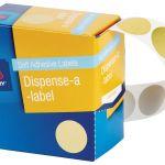 Avery Label Dispenser Dmc24go Gold Round 24mm 250 Pack | 61-238413