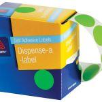 Avery Label Dispenser Dmc14fg Green Fluoro Round 14mm 700 Pack | 61-238418