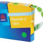 Avery Label Dispenser Dmc24fg Green Fluoro Round 24mm 350 Pack | 61-238419