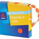 Avery Label Dispenser Dmc14fr Red Fluoro Round 14mm 700 Pack | 61-238420