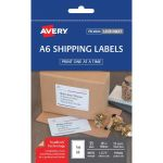 Avery Label L7175 Shipping A6 105x148mm Fsc Mix Credit 1up 25 Sheets | 61-272597