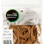 Dixon Rubber Bands 60gm Assorted | 61-300276