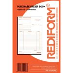 Rediform Book Purchase Order R/purchbook Duplicate 50 Leaf | 61-437335