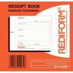 Rediform Book Receipt Small R/recsml Duplicate 50 Leaf   61-437337