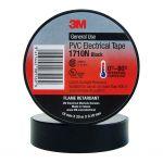 3m Electrical Tape 1710n-bl Pvc 18mm X 20m Black | 68-10100