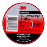 3m Electrical Tape 1710n-re Pvc 18mm X 20m Red | 68-10103