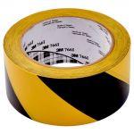 3m Vinyl Tape 766 50mm X 33m Yellow/black   68-10167