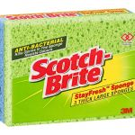 Scotch-brite Antibacterial Thick Large Sponge Pkt/3   68-10209