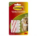 Command Strips Poster 17024 Small White Pk/12 | 68-10357