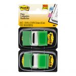 Post-it Flags 680-gn2 Twin Pack Green 25x43mm Pkt/60 | 68-10459