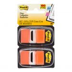 Post-it Flags 680-oe2 Twin Pack Orange 25x43mm Pkt/100 | 68-10463