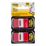 Post-it Flags 680-rd2 Twin Pack Red 25x43mm 50/dispenser 2 Dispensers/pk   68-10467
