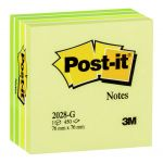 Post-it Notes Memo Cube 2028-g Green 76x76mm 450 Sheet Cube | 68-10517