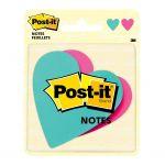 Post-it Notes 7350-hrt Die Cut Heart 73.6x71.1mm Pkt/2 Pads   68-10569