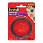 Scotch Repositionable Magnetic Tape Mt004.5 12.7mm X 1.22m Black   68-10687
