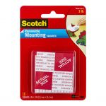 Scotch Mounting Squares Removable 108 25.4x5.4mm Pkt/16 | 68-10690