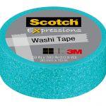 Scotch Expressions Glitter Washi Tape C514-blu3 15mm X 5m Pastel Blue | 68-10703
