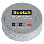 Scotch Expressions Glitter Washi Tape C514-sil 15mm X 5m Silver   68-10704