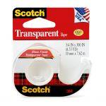 Scotch Transparent Tape With Dispenser 157s 19mmx7.62m | 68-10814