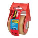 Scotch Heavy Duty Shipping Tape 143 50.8mm X 20 Tan On Dispenser | 68-10851