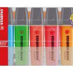 Stabilo Boss Highlighter 70/6 Multi Pack 6 | 68-14223S1