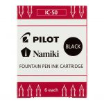 Pilot Fountain Pen Ink Cartridge Black 6pk (ic-50-b) | 68-20394