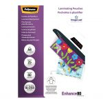Fellowes Laminating Pouches A4 Gloss 80 Micron Pack 25 | 68-F5396207