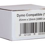 Icon Compatible Dymo Lw Labels 25mmx13mm 1000pcs/per Roll | 68-ID11353