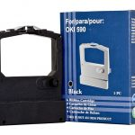 Icon Compatible Oki 590 591 520 521 Black Ribbon (590rib) | 68-IO590