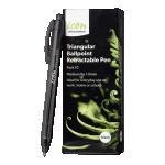 Icon Ballpoint Retractable Pen Triangular Medium Black (10 Pack) | 68-IBPTRIBLK