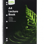 Icon Spiral Lecture Notebook A4 PP Cover Black 140 pg (3 Pack) | 68-ISNBPP007