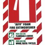 Afff Foam Fire Extinguisher Blazon / Sign | 75-7821