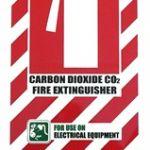 Carbon Dioxide Co2 Fire Extinguisher Blazon / Sign   75-7822