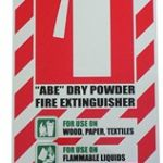 Abe Dry Powder Fire Extinguisher Blazon / Sign | 75-7823