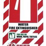 Water Fire Extinguisher Blazon / Sign   75-7825