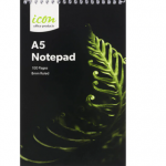 Icon Spiral Notepad A5 Soft Cover 100 Pg (3 Pack) | 68-ISNPSC001