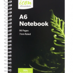 Icon Spiral Notebook A6 Soft cover 96 pg 70% Rec (3 Pack) | 68-ISNBR001