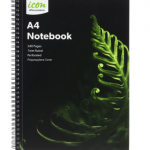 Icon Spiral Notebook A4 PP Cover Black 240 pg (3 Pack) | 68-ISNBPP005