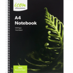 Icon Spiral Notebook A4 Soft cover 120 pg 70% Rec (3 Pack) | 68-ISNBR003