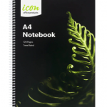 Icon Spiral Notebook A4 Soft cover 120 pg (3 Pack) | 68-ISNBSC001