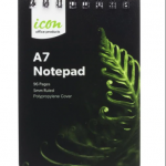 Icon Spiral Notepad A7 PP Cover Black 96 pg (12 Pack) | 68-ISNBPP006