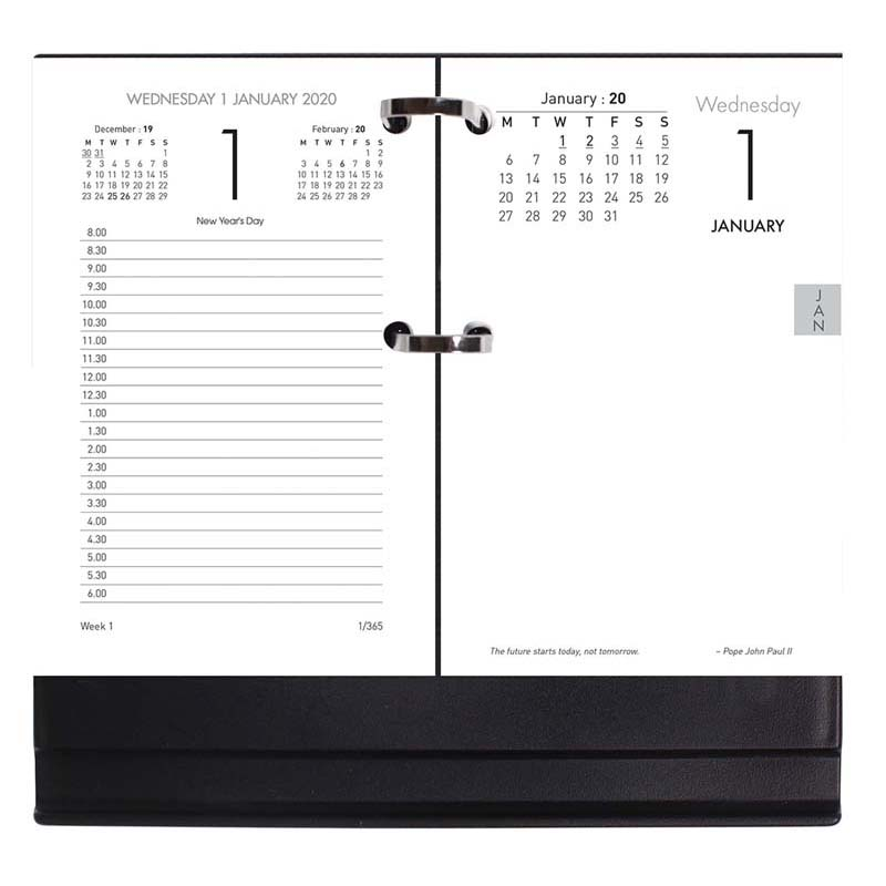 Milford Calendar Stand 13e Acrylic Side Opening Punch